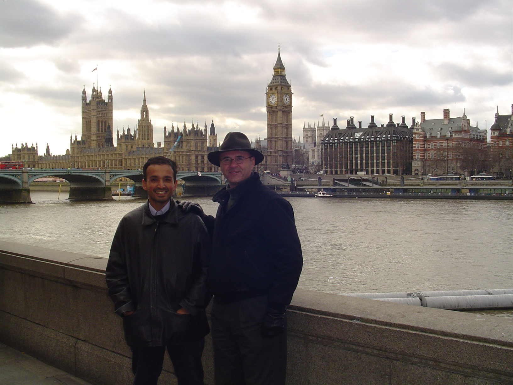 Tom and Gareth Jones on the Thames